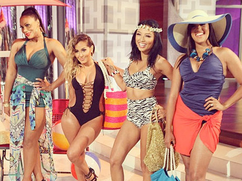 The Hosts Model Swimsuits