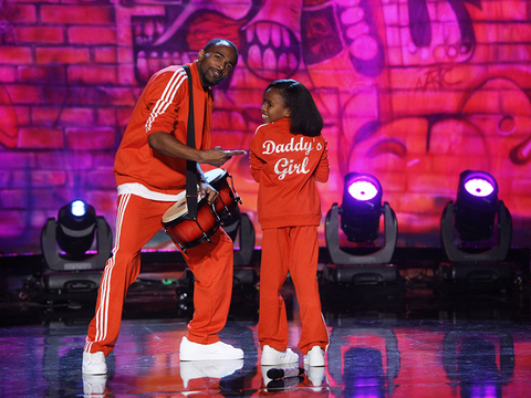 Kayliyah Weems Performs Kicking with Her Dad