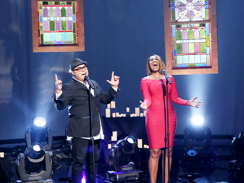 Israel Houghton & Yolanda Adams Hit 'The Real' Stage!