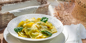 Get the Recipe: Cheese Ravioli with Pesto Sauce!