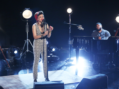 Andra Day Belts Out Her New Single, 'Rise Up'