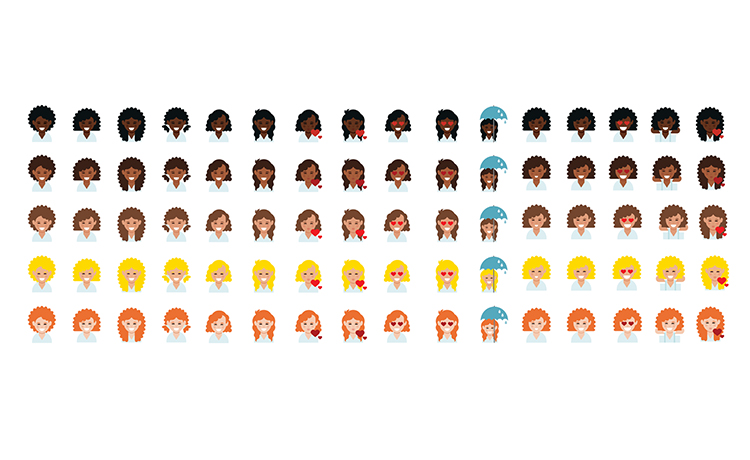 Get Your Dove Love Your Curls Emojis Keyboard!