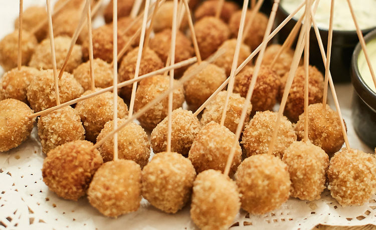 Mini Cheese Balls on a Stick