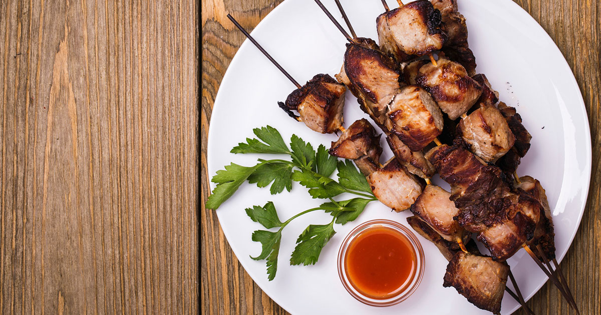 Pork and Plum Kabobs