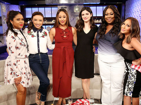 Friday on 'The Real': Guest Co-Host Angela Yee, Monica Barbaro
