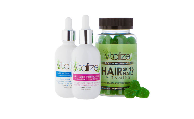 the 1 cause for thinning edges is alopecia traction 35 million women in the us suffer from thinning hair thankfully vitalize is an all natural 3 part