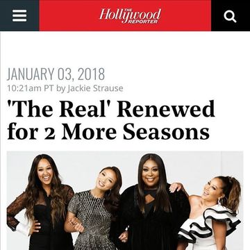 EXCITING NEWS! @foxtv stations have renewed #TheReal through 2020!