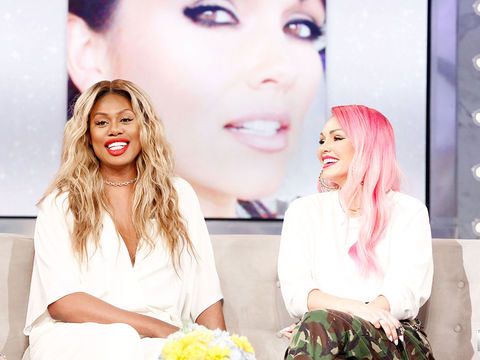Laverne Cox and Kandee Johnson Talk About Beyoncé and Janice Dickinson - Part 1