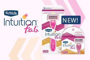 Schick® Intuition® f.a.b.™ GIVEAWAY!