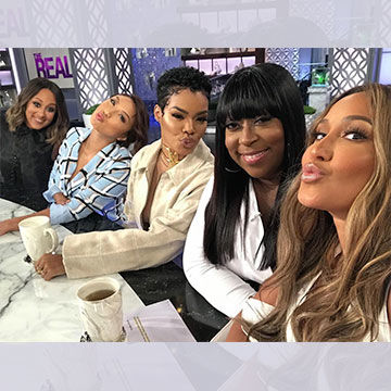 @TeyanaTaylor takes the #GirlChat table! 💋 Did you love the #TheRealS5…