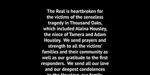 The Real is heartbroken for the victims of the senseless tragedy in Thousand…