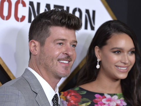 Robin Thicke's Fiancée April Love Geary Responds to Shaming Over Feeding Her…
