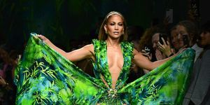Jennifer Lopez Just Walked the Runway In a Version of Her Iconic Grammys Dress