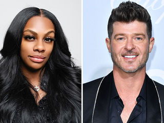 "Jessica ""Jess Hilarious"" Moore, Robin Thicke"