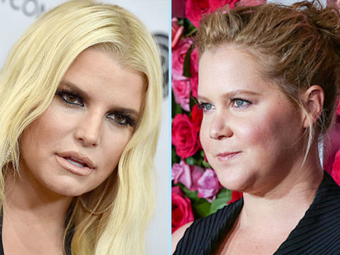 Jessica Simpson Jokingly Replied to Amy Schumer's Postpartum Weight-Loss Pic