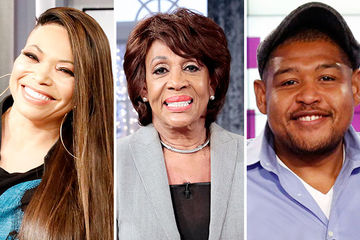 Tisha Campbell, Congresswoman Maxine Waters, Omar Miller