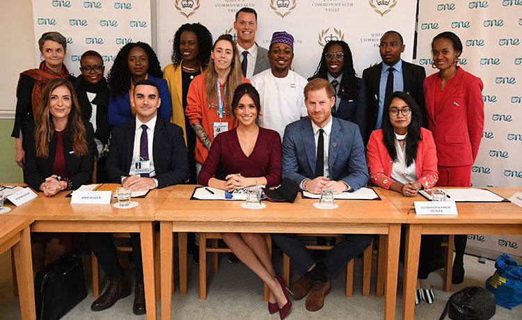 Prince Harry Crashes Meghan Markle's Roundtable on Gender Equality