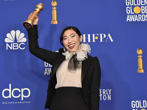 'The Real' Reacts to Awkwafina's Historic Golden Globes Win