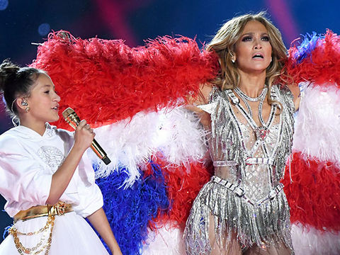 Jennifer Lopez's 11-Year-Old Daughter Emme Steals the Show at Super Bowl LIV!
