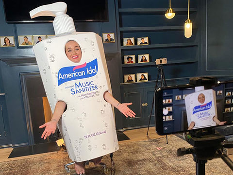 Katy Perry's 'American Idol' Hand Sanitizer Costume Divides Social Media!