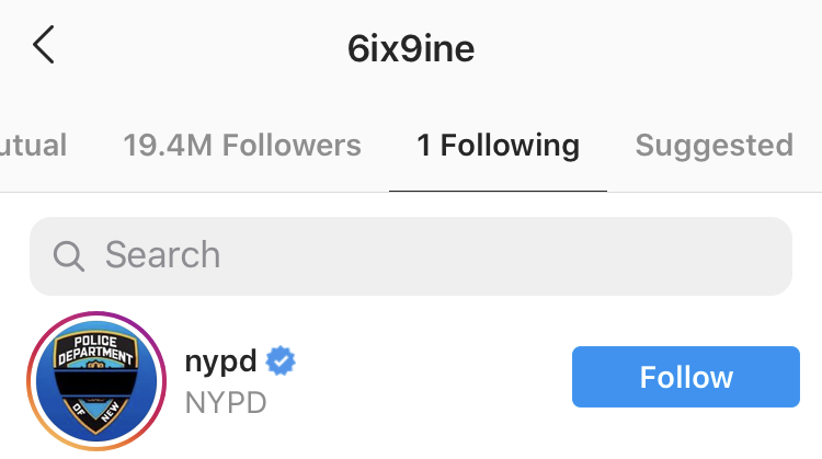 The NYPD??