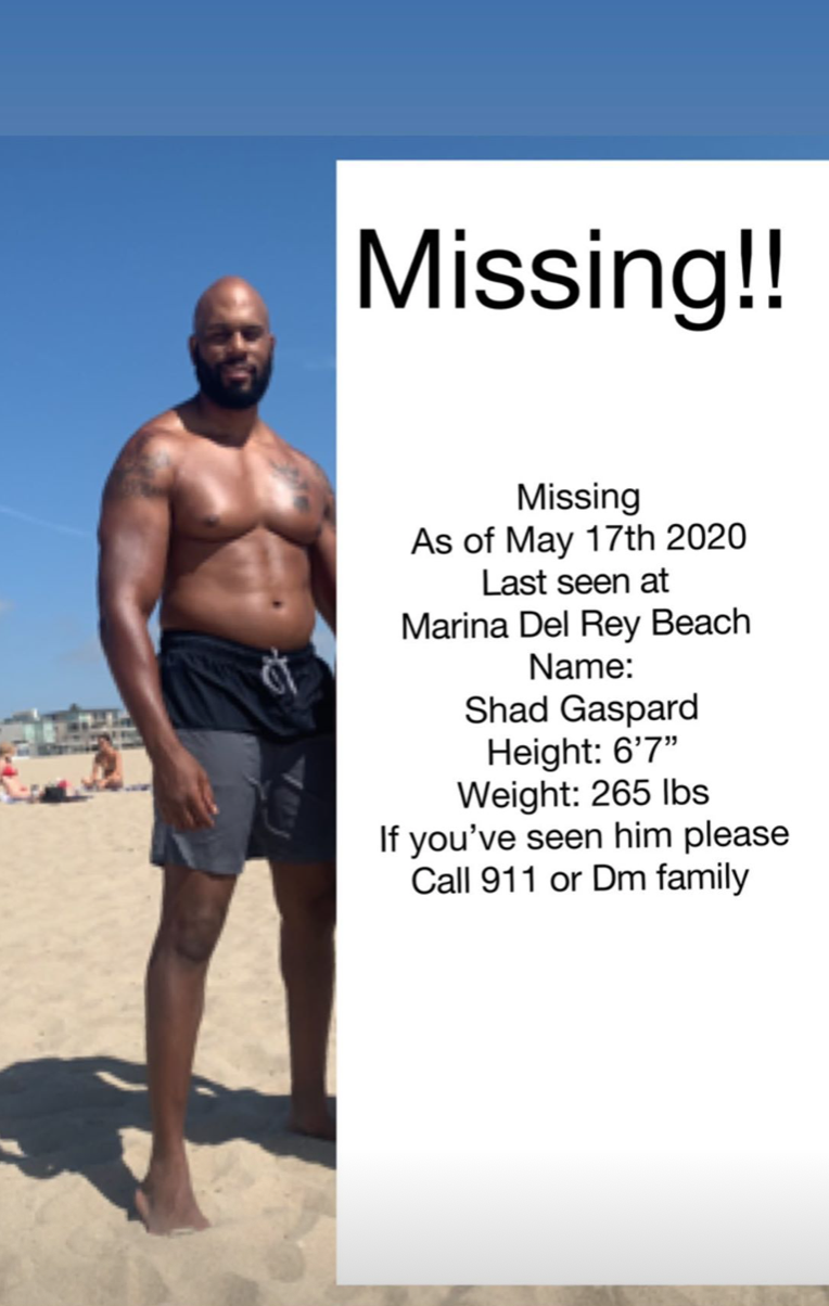 Contact 911 or Gaspard's family if you have any information
