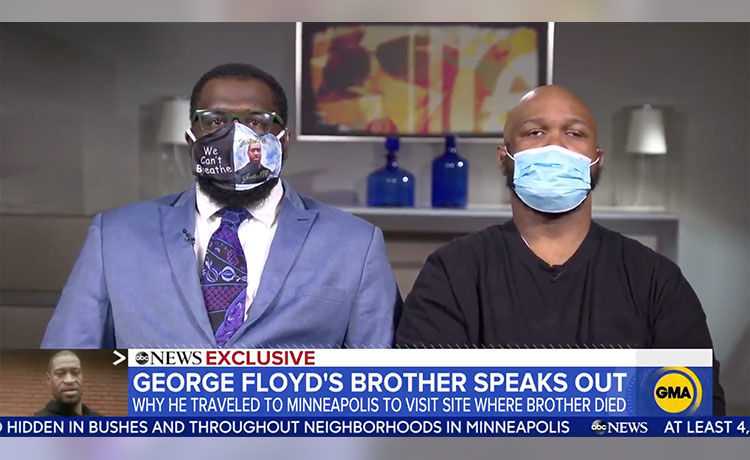 George Floyd's Brother Terrence Says Violence Is 'Overshadowing What's Going On'