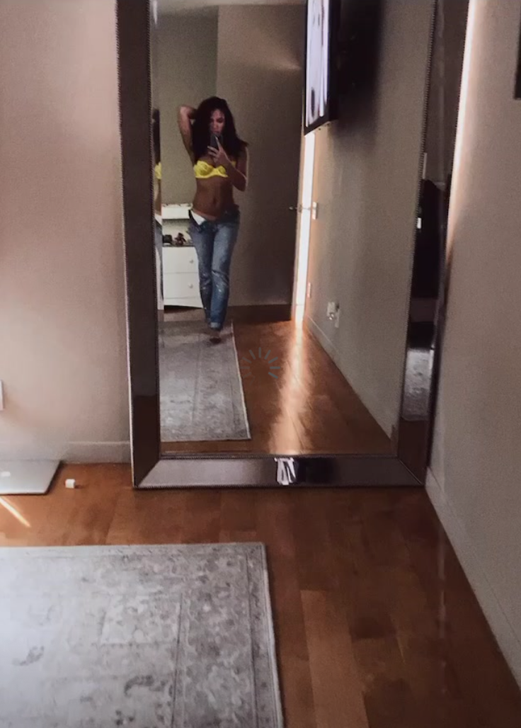 Cassie shows off her post-baby body!