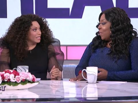We're chatting with guest co-host Tisha Campbell about the Soul Train Awards…