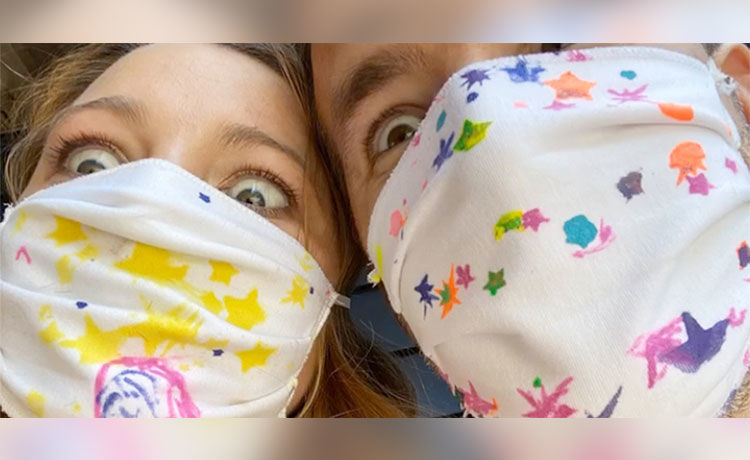 Blake Lively & Ryan Reynolds Show Off Face Masks Decorated by Daughters!
