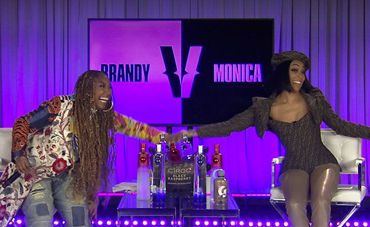 Brandy & Monica Talk Rumored Feud in Record-Shattering 'Verzuz' Battle |  TheReal.com