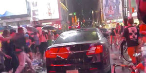 Car Plows Through Daniel Prude Protesters in Times Square