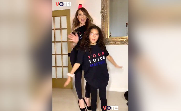 Mariah Carey's Daughter Monroe, 9, Steals the Show in Voting PSA
