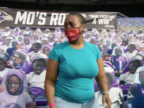 Baltimore Ravens Fill Stadium Section with Cutouts of Teen Fan Who Died of…