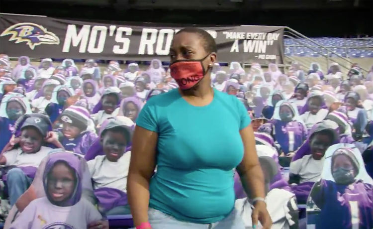 Baltimore Ravens Fill Stadium Section with Cutouts of Teen Fan Who Died of Cancer