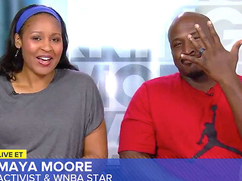 WNBA Player Maya Moore Marries Wrongfully Convicted Man Who She Helped Free…