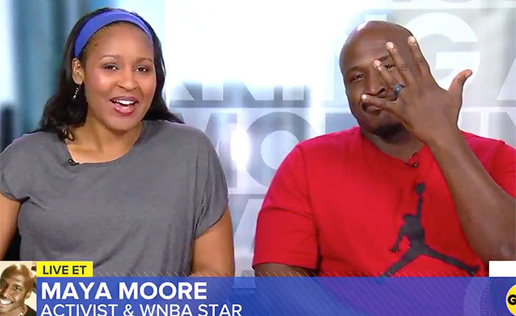 WNBA Player Maya Moore Marries Wrongfully Convicted Man Who She Helped Free from Prison