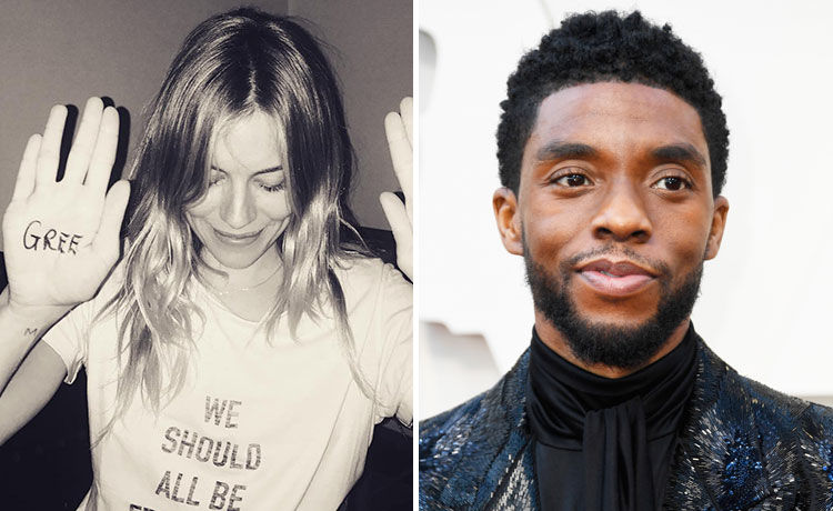 Sienna Miller Says Co-Star Chadwick Boseman Took a Pay Cut to Increase Her Fee