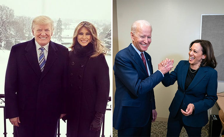 Joe Biden & Kamala Harris Send Regards to Donald & Melania Trump After COVID-19 Diagnoses