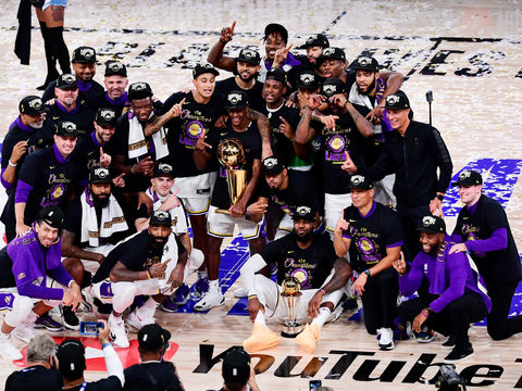 L.A. Lakers Honor Kobe Bryant After 2020 NBA Championship Win