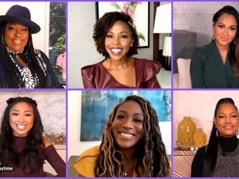 The Cast of Tyler Perry's 'Sistas' Stops By to Discuss Filming Season 2 in…