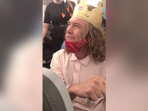 White Man Wearing Burger King Crown Unleashes Racist Rant on Flight