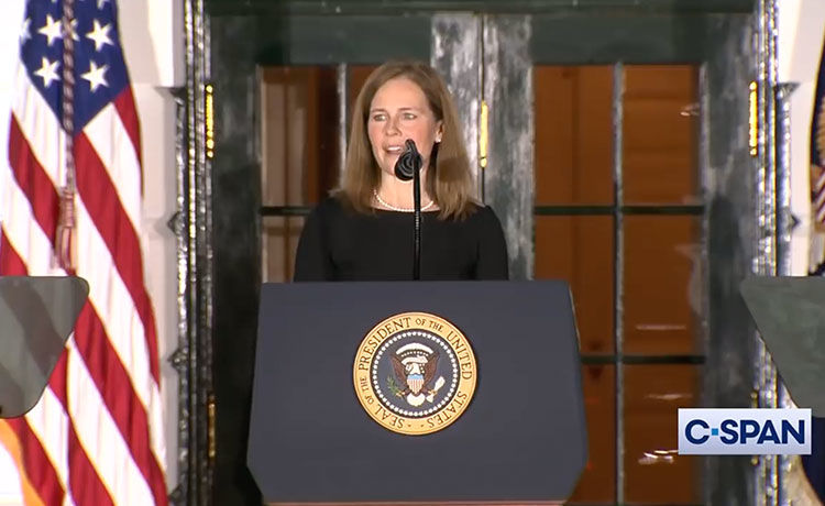 Celebs React to Amy Coney Barrett's Confirmation to the Supreme Court