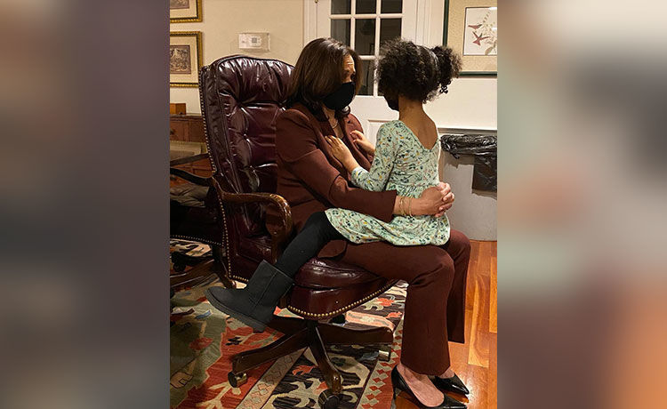 Kamala Harris Shares Touching Moment with 4-Year-Old Great-Niece