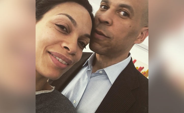 Rosario Dawson Is 'So Proud Of' Boyfriend Cory Booker After His Reelection