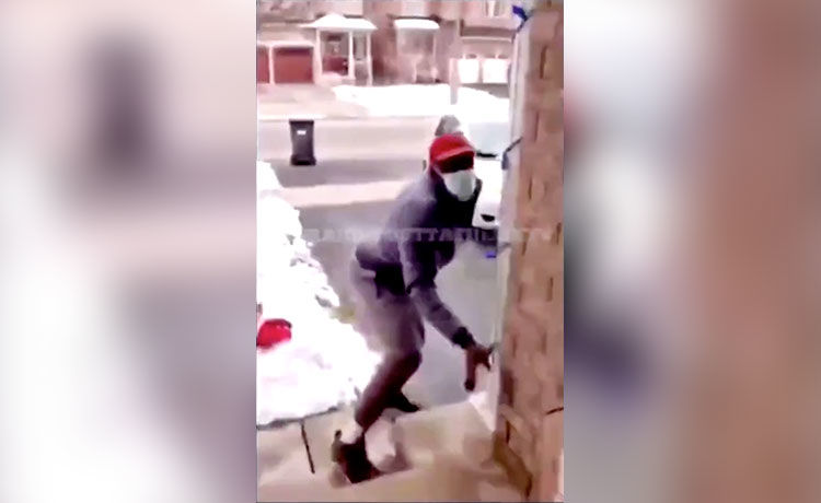 Alleged Porch Pirate Gets Caught and Fumbles Getaway — WATCH!