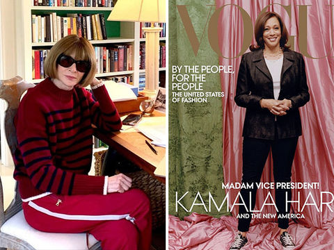 Vogue's Anne Wintour Issues Statement on Kamala Harris Cover Controversy