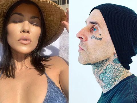 Travis Barker Gets GF Kourtney Kardashian's Name Tattooed on His Chest!