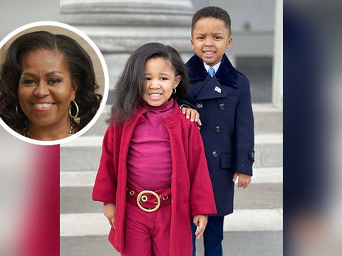 Adorable Kids Go Viral After Recreating the Obamas' Inauguration Looks!