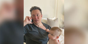 Elon Musk Shares Rare Photo of Son X Æ A-XII!